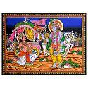 Krishna Preaching Gita to Arjuna
