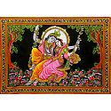 Radha Krishna on a Swing