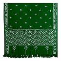 Kantha Stitch Green Woolen Shawl for Ladies