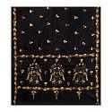 Kantha Stitch Black Woolen Shawl for Ladies