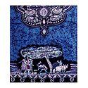 Blue with Black Batik Print Cotton Stole
