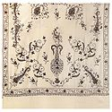 Embroidery on Ivory Kashmiri Woolen Shawl for Ladies