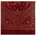 Embroidered Maroon Kashmiri Woolen Shawl for Ladies