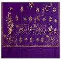 Embroidered Dark Mauve Kashmiri Woolen Shawl for Ladies