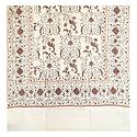 Embroidered Off-White Kashmiri Woolen Shawl for Ladies