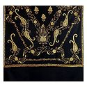 Embroidered Black Kashmiri Woolen Shawl for Ladies