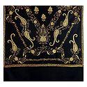 Embroidered Black Kashmiri Woolen Shawl for Ladies