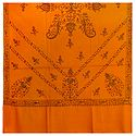 Embroidered Yellow Kashmiri Woolen Shawl for Ladies