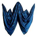 Blue Shawl with Black Weaved Design