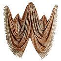 Kashmiri Stitch with Weaved Design on Beige Kani Shawl