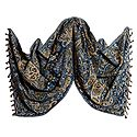 Reversible Light Woolen Stole with Weaved Paisley Design