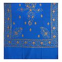 Embroidered Blue Kashmiri Woolen Shawl for Ladies