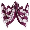 White with Dark Mauve Woolen Stole