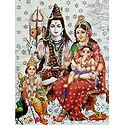 Shiva Family - Glitter Poster