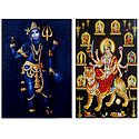 Shiva and Navadurga - Set of 2 Posters