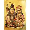 Lord Shiva, Parvati, Kartik and Ganesha