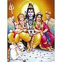 Shiva, Parvati, Ganesha with Nandi