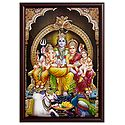 Shiva Family - Wall Hanging