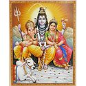 Shiva, Parvati, Ganesha and Nandi