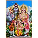 Shiva, Parvati with Ganesha