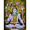 Story of Lord Shiva - Unframed Glitter Poster