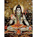 Shiva in Abhaya Mudra - Glitter Poster