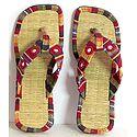 Colorful Ladies Sandal With Mirrorwork