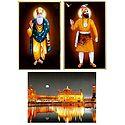 Guru Nanak,Guru Govind Singh and Harmandir Sahib - Set of 3 Posters