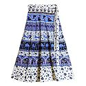 Sanganeri Print on Wrap Around Skirt