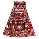 Sangeneri Print on Wrap Around Skirt