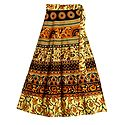 Sangeneri Print on Wrap Around Skirt