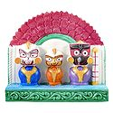 Jagannath, Balaram, Subhadra with Red Chali