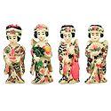 Set of 4 Japanese Lady