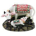 Decorative Marble Dust Cow and Calf