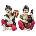 Rajasthani Musicians - Set of 2