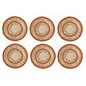 6 Pieces of Hand Woven Round Grass Fibre Table Mats