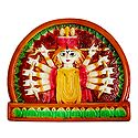 Goddess Durga - Terracotta Wall Hanging