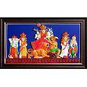 Mahishasuramadini Durga - Terracotta Wall Hanging