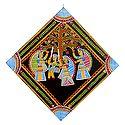 Krishna with Gopinis - Wall Hanging
