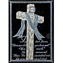 The Holy Cross - (Blue and Silver Glitter Painting)