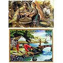 Daily Chores of Village People - Set of 2 Posters