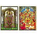 Lord Venkateshwara and Satyanarayan - Set of 2 Posters