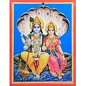 Vishnu with Lakshmi - Wall Hanging
