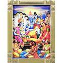 Vishnu with Lakshmi and Other Gods and Goddesses