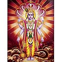 Vishnu on Sheshanaga - Glitter Poster