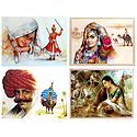 Rajasthani People - Set of 4 Posters