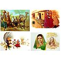 Rural People of India - Set of 4 Unframed Posters