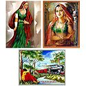 Indian Women - Set of 3 Posters