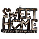 Sweet Home Key Rack with Four Hooks - Wall Hanging