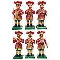 Wooden Rajasthani Band Party - Set of 6